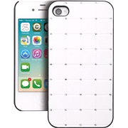 Cover hvid med rhinestone iPhone 4/4S