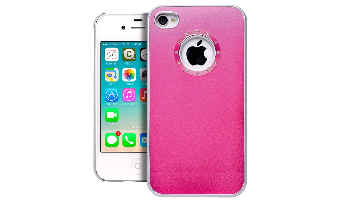 Cover Rosy Red Alu iPhone 4/4S