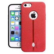Cover Nubuck look Red iPhone 5/5S/SE