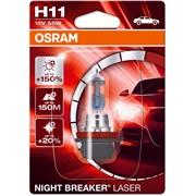 64211NL pære NB Laser +150 H11 Osram