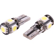 Pæresæt W5W T10 5 LED Canbus IC