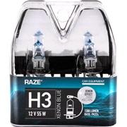 XENON BLUE pæresæt H3 RAZE