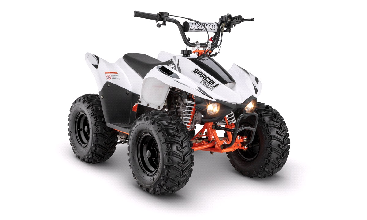 KAYO ATV Space 1 70cc 4-takt hvid/orange