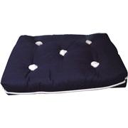 Kapokpude, Mørkeblå m. hvide knapper
