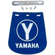 Stænklap med Yamaha skrift, foran, blå
