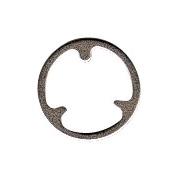 Låseplade for clips ved nål, P+K