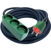Neopren kabelsæt 10m 3 stikdåser m/jord