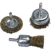 Stålbørsteskiver 3 stk. til boremaskine