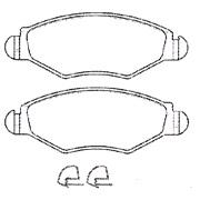 Bremseklodssæt - (ICER)