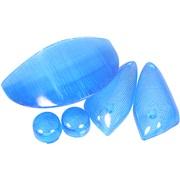 Bag/blinklysglassæt, blå, -2000
