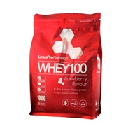 Whey 100 Protein jordbær 1000 g LinusPro