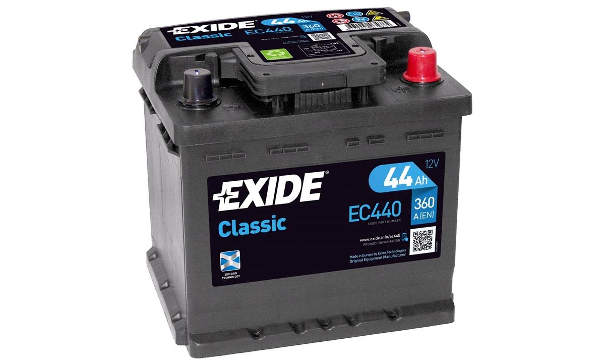 Batteri - EC440 - CLASSIC - (Exide)