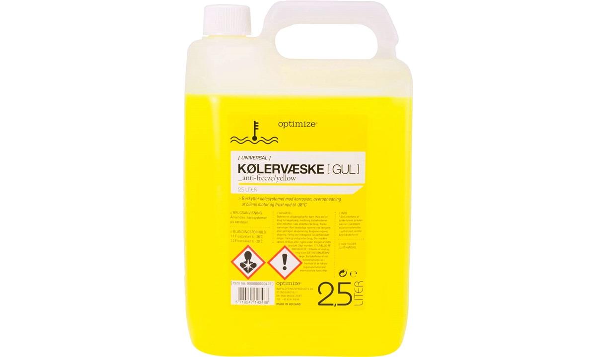 Kølervæske Gul 2,5 liter