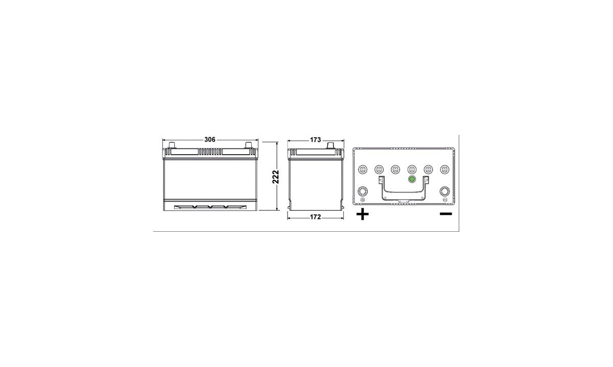 Batteri - EB955 - EXCELL - (Exide)
