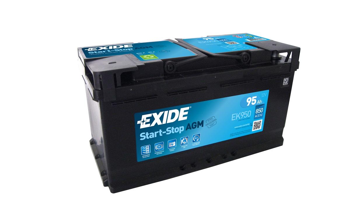 Batteri - EK950 - Start-Stop AGM - (Exide)