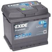 Bilbatteri - Exide Premium EA530 - 53 Ah