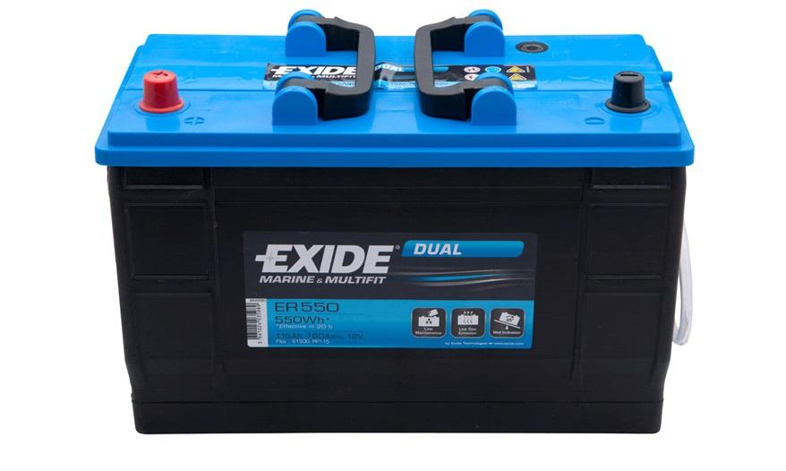 Batteri ER550 - Exide DUAL - 115 Ah - Batterier AGM/GEL - thansen.dk
