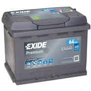 Bilbatteri - Exide Premium EA640 - 64 Ah