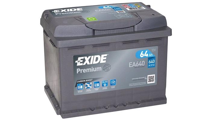 Bilbatteri - Exide Premium EA640 - 64 Ah - Bilbatteri - Exide Premium EA640 - 64 Ah - thansen.dk