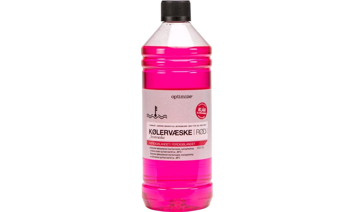 Kølervæske - RØD - klar til brug, 1 L
