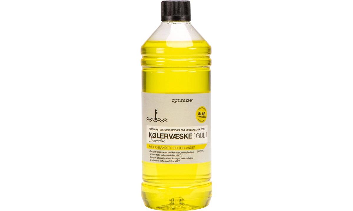 Kølervæske - GUL - klar til brug, 1 L