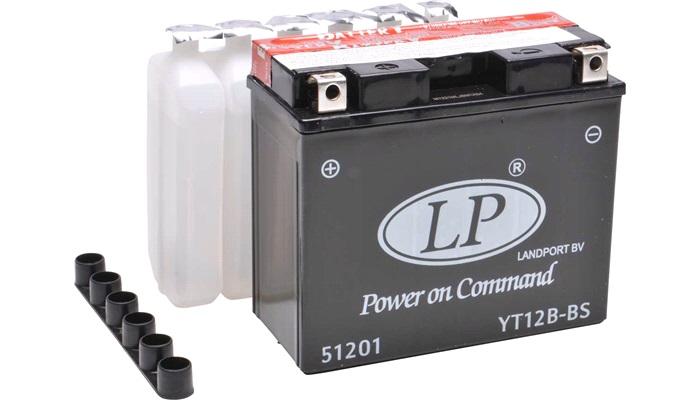 Batteri 12V-10Ah, YT12B-BS, vedl.frit - LP batterier til MC - thansen.dk