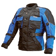 Børne motorcykeljakke M/140cm sort/blå