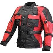 Børne motorcykeljakke M/140cm sort/rød