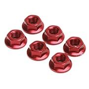Møtriksæt 6stk rød 6mm