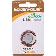 Lithium knapcellebatteri, CR1616