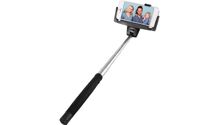 selfie stick med remote til ios android diverse. Black Bedroom Furniture Sets. Home Design Ideas