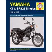 Værkstedshåndbog, Yamaha XT/SR125 82-03