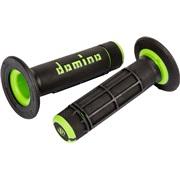 Domino A020 offroad sort/grøn riflet