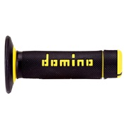 Domino A020 offroad sort/gul riflet