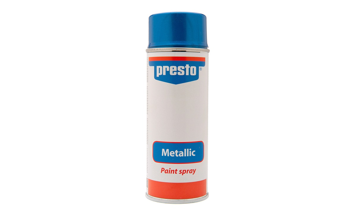 Spraymaling, blåmetallic, acryl
