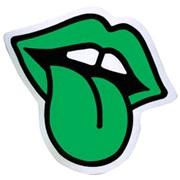 Staffering, mund, lille, grøn, 5,5 x 5cm