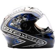 MT glasfiber Falcon sort/blå medium
