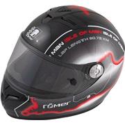 Styrthjelm Römer TT sort/rød XL