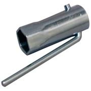 Tændrørsnøgle 21mm, kort, aluminium