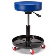 Værkstedsstol med hjul højdejusterbar