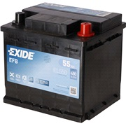 Batteri - EL550 - Start-Stop EFB - (Exid