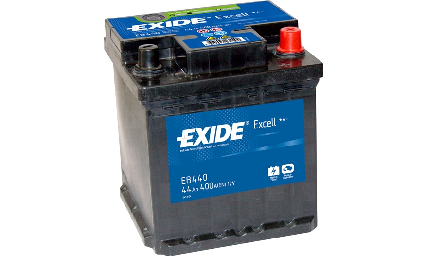Batteri - EB440 - EXCELL - (Exide) - Bilbatteri - Stort udvalg i batterier til netop din bil ...