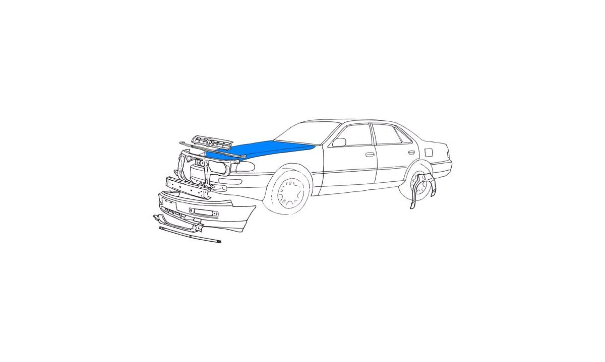 Gasfjeder, motorhjelm - (Polcar)