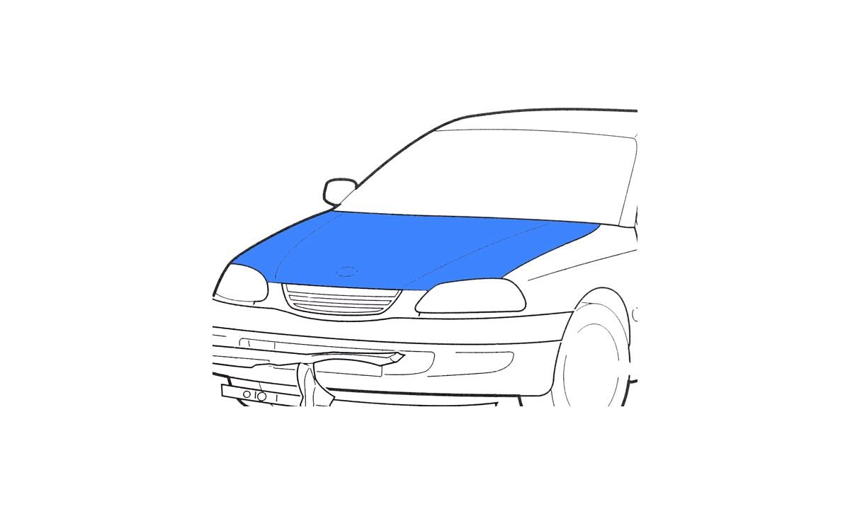 Gasfjeder, motorhjelm - (Klokkerholm)
