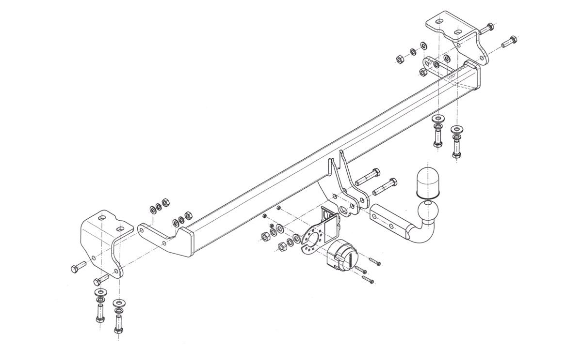 Trekkrok Auris Hybrid 1,8 10/12-