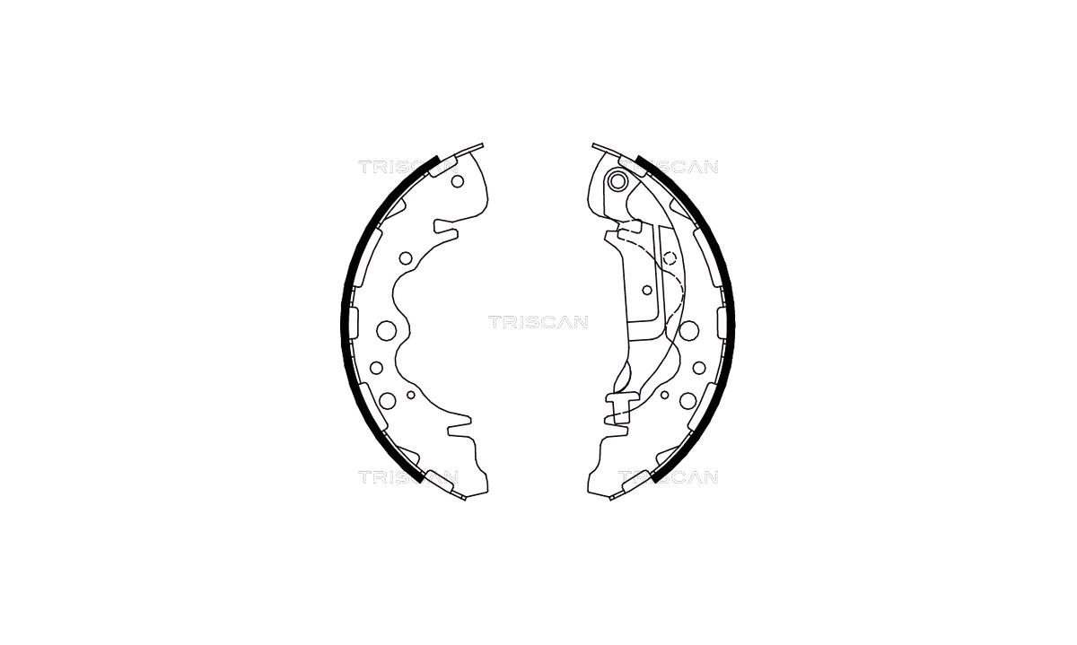 Bremsebakkesæt - (OE Replacement Parts)