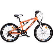 "Full suspension MTB 20"" 6-g orange/hvid"