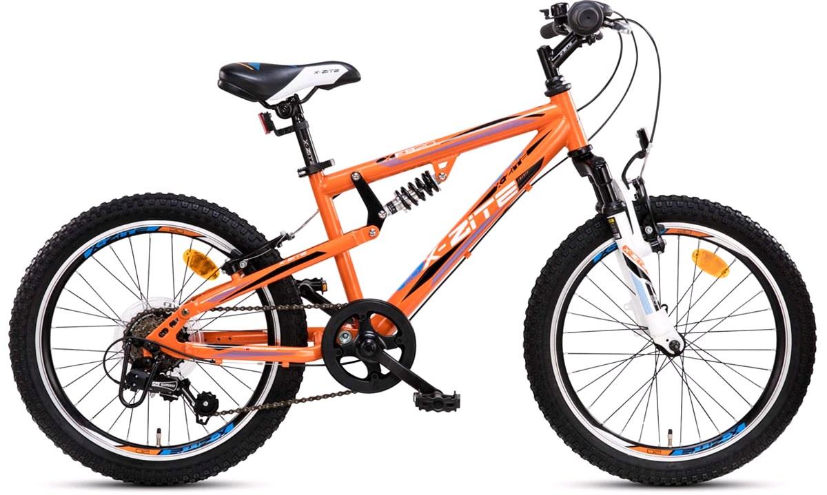 """Full suspension MTB 20"""" 6-g orange/hvid"""