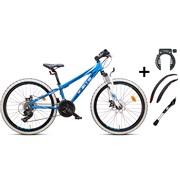 """Mountainbike 24"""" 24.21 hvid PAKKETILBUD"""