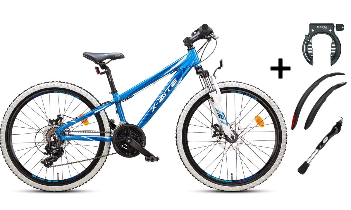 """Mountainbike 24"""" 24.21 blå PAKKEPRIS"""